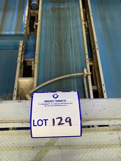 Used Stainless Steel Conveyor Belt 8.1m L 0.85m W