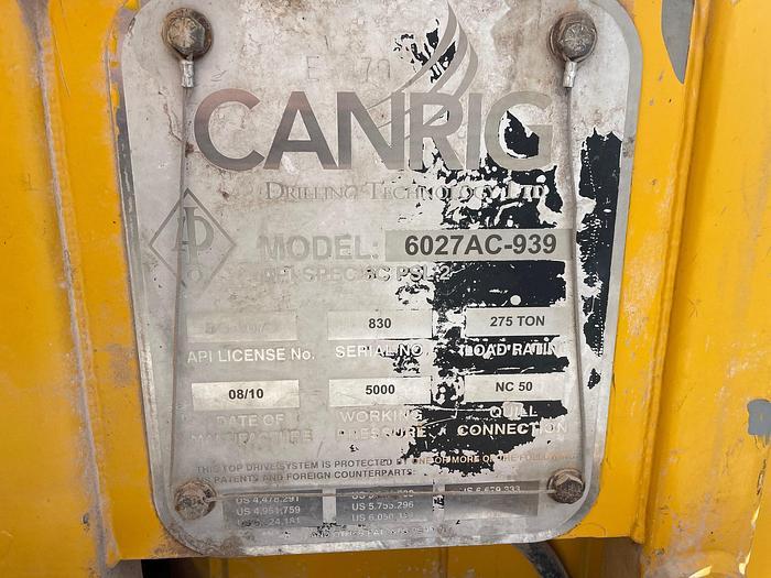 Used 2010 Canrig  6027 AC