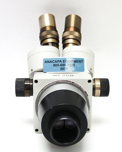 Used Wesco 0.65-4X MicroScope Head Unit With WF10X Eyepieces (8879)W