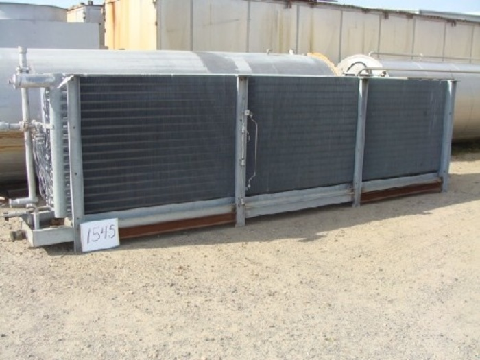 "Frick Frigid Cool 30 Ton Ammonia Coil no tag with (3) 40 10 Hp fans unit is 4' wide x 62"" high x 18' long"" #1545"