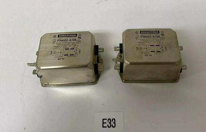 *NEW* Schaffner FN 682-4/06 EMI Power Line Filter 4A 250VAC 60Hz + Warranty!