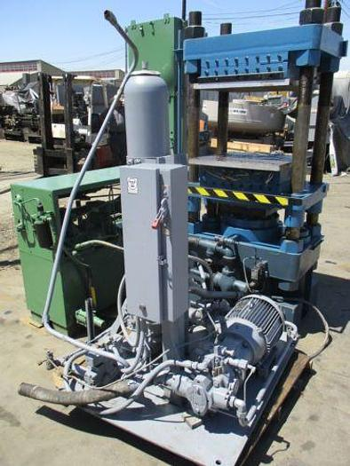 CLIFTON HEATED PLATTEN 4 POST HYDRAULIC PRESS WITH PUMPS AND CONTROLS