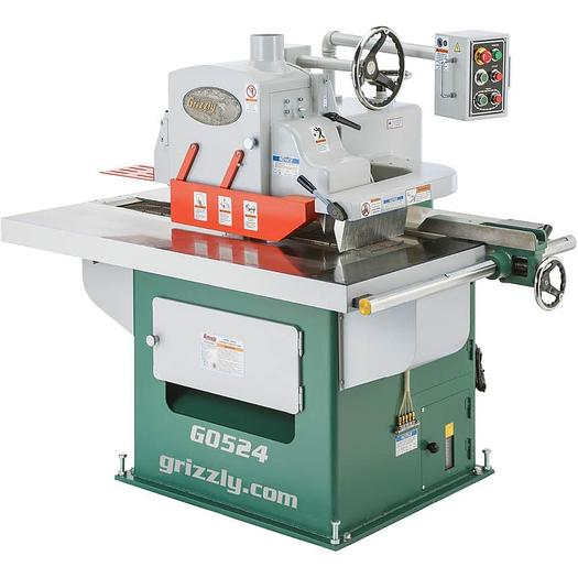 Grizzly G0524 - 15 HP 3-Phase Straight Line Rip Saw