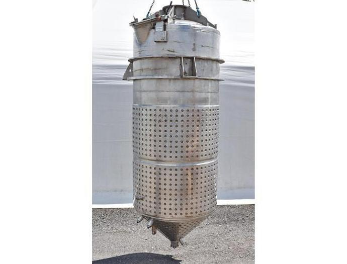 USED 1200 GALLON JACKETED TANK, STAINLESS STEEL