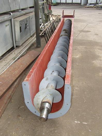 Używane Przenośnik ślimakowy rynnowy, wykonany ze stali węglowej, lakierowany