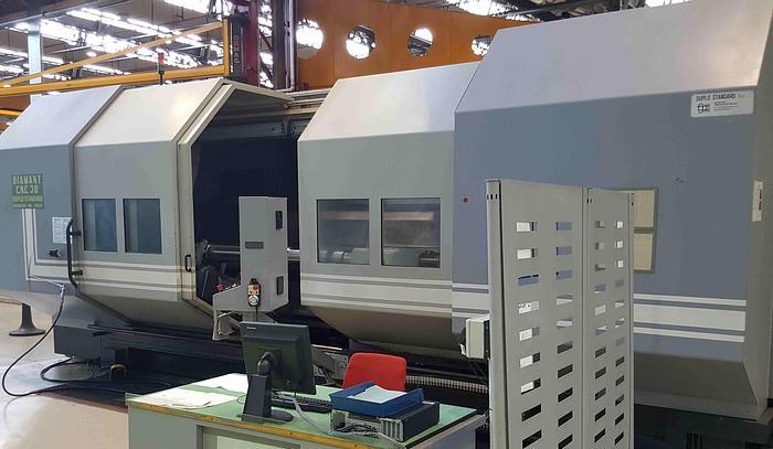 Usata TORNIO PARALLELO A BANCALE INCLINATO DUPLO STANDARD DIAMANT 30x3500 CNC