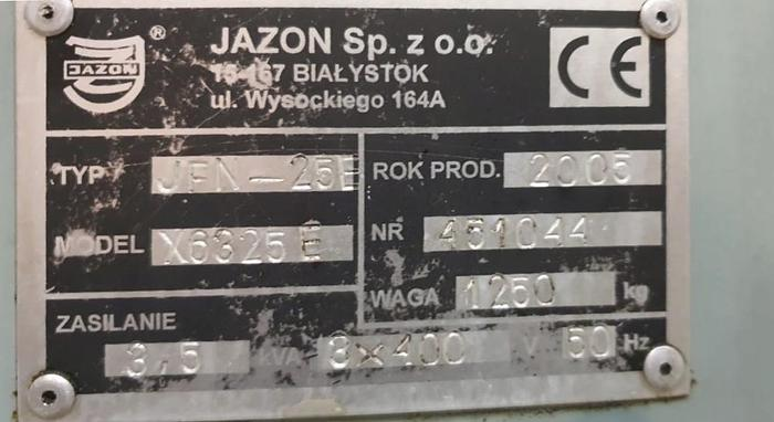 Frezarka JAZON JFN 25