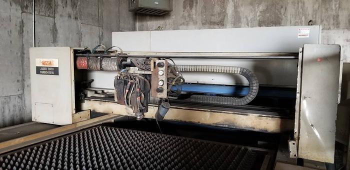 1991 MAZAK CNC LASER TABLE LASERPATH TURBO X 510 SMOKE EATER CUTTER