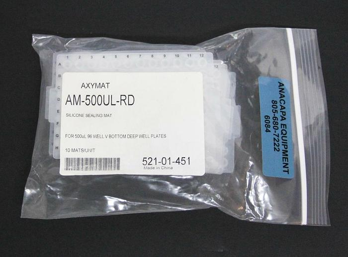 Axygen AM-500UL-RD AxyMat Microplate Silicone Sealing Mat 96 Well NEW Lot 6084