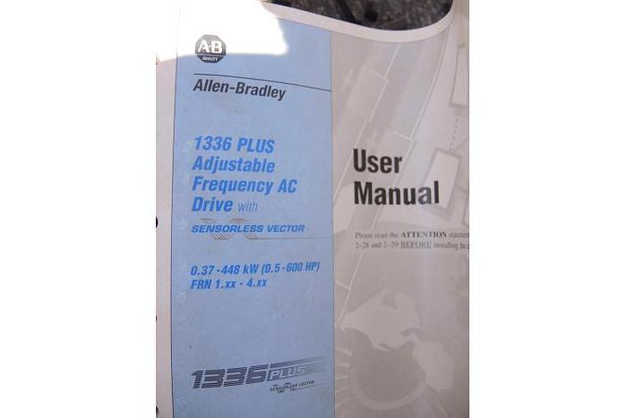 USED ALLEN BRADLEY ADJUSTABLE FREQUENCY AC DRIVE, 1336 PLUS, UNUSED