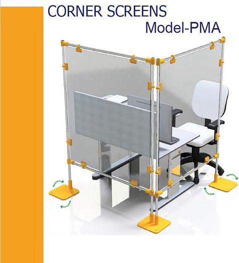Covid-19 PMA Free Standing Desk Protection Screens
