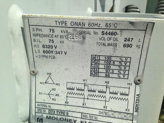 Used 75 KVA Transformer