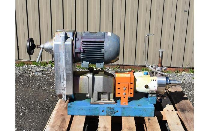 """USED JABSCO ROTARY LOBE PUMP, 1"""" INLET & OUTLET, STAINLESS STEEL"""