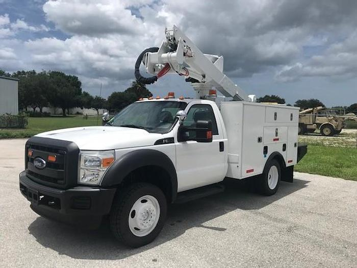 Used Altec AT37G Articulating Telescopic Bucket Boom on A 2015 Ford F550 4x4 Truck - C59047