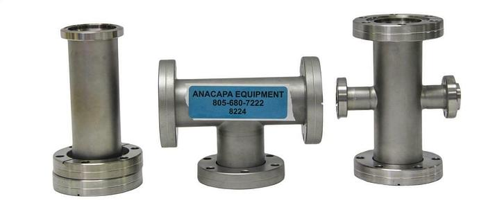 Used Nor-Cal Products 4CR-150-075 CF Reducer Cross, 3T-150, 2N-150, Lot of 3 (8224)W