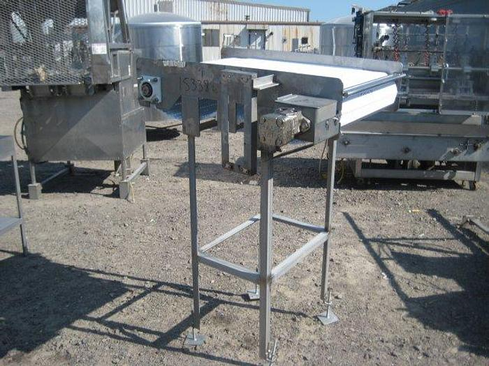 "Used Stainless Steel Conveyor; 23.5""Wx41""L"