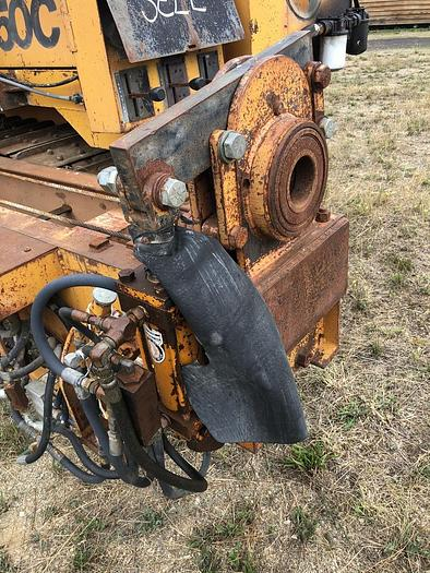 HB19356 Drain-hole Drill, mounted on Case 1150C Dozer Jensen JDC HV100  on Case 1150C track drill