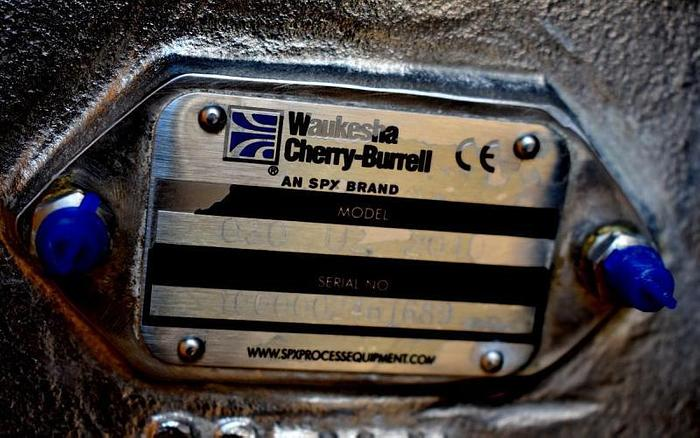 USED WAUKESHA ROTARY LOBE PUMP, MODEL 030-U2, STAINLESS STEEL, HIGH SANITATION PUMP