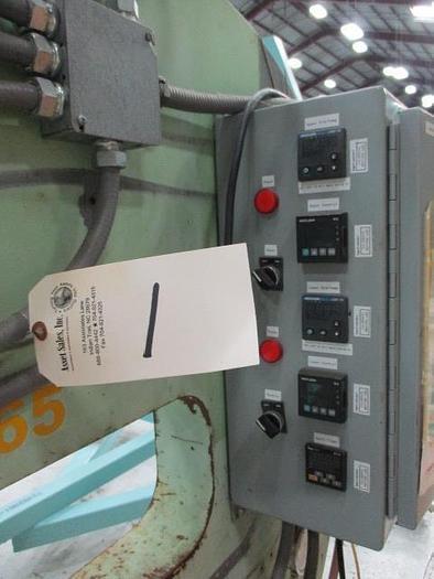 """Zephyr single shot riveter/ hot dimpler, 36"""" throat, temperature / process controls."""