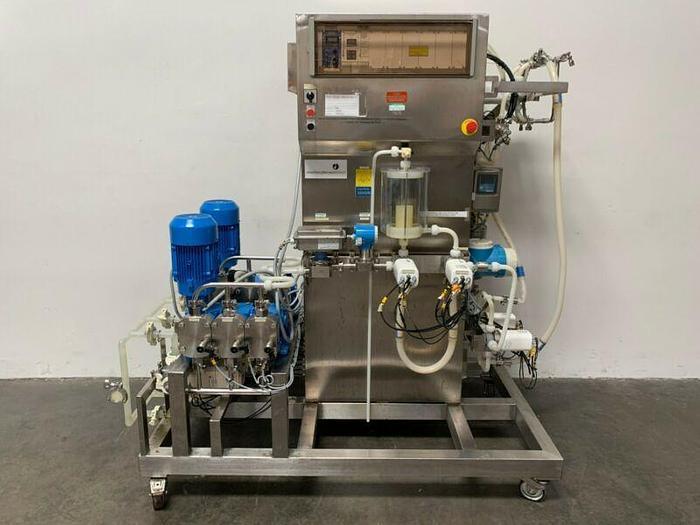 Used Amersham 1410 BioProcess System, Chromatography Skid 208V