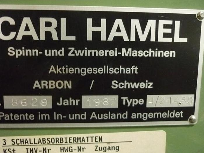 Doppeldraht-Zwirnmaschinen HAMEL  HG 7 - 4/214.50