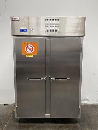 Used Thermo Scientific 3575-10 Flammable Two-Door Lab Refrigerator 50 Cu Ft 115V