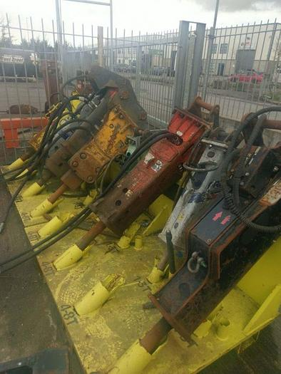 A selection of Rock Breakers to suit 3- 12 tonne digger