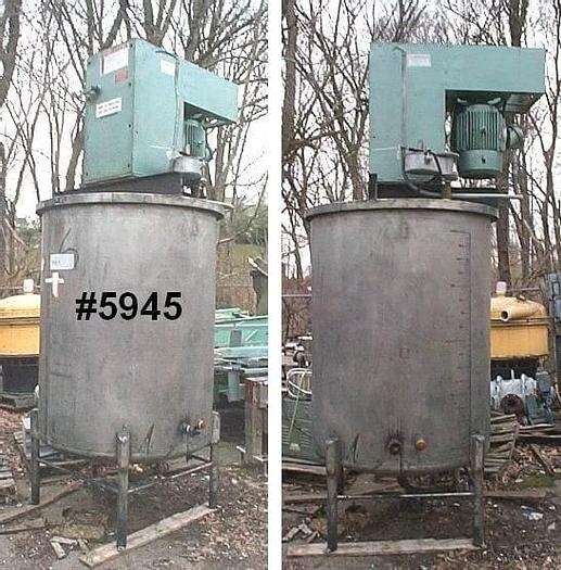 Used 20 HP MYERS HIGH SPEED DISPERSER S/S – XP – ON 500 GAL. TANK