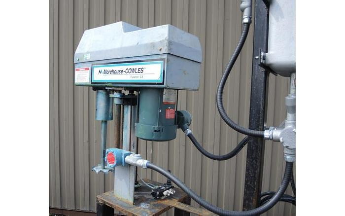 USED COWLES DISPERSER, 2 HP LABORATORY DISSOLVER, STAINLESS STEEL