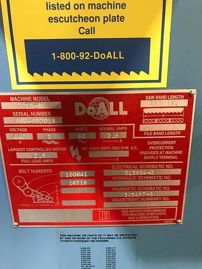 1998 Doall 2013-V Vertical Bandsaw #1665
