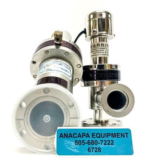 Used Nor-Cal Products CSVP-100-M Pneumatic Right Angle Valve & 950927-21 Valve (6728)
