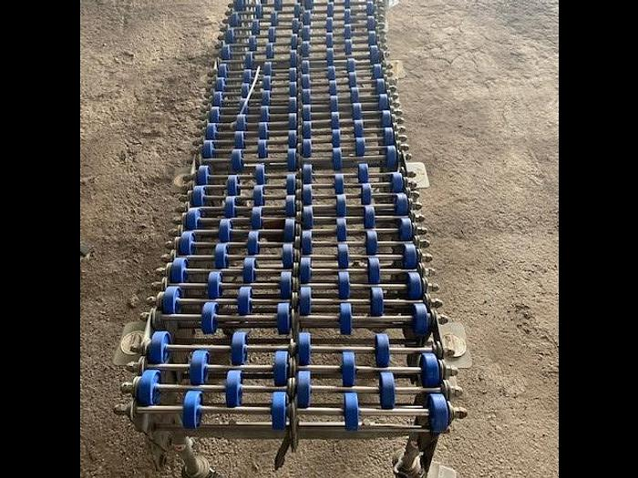"Used Accordian 18"" Wide x 20' Long RollerSkate Conveyor"