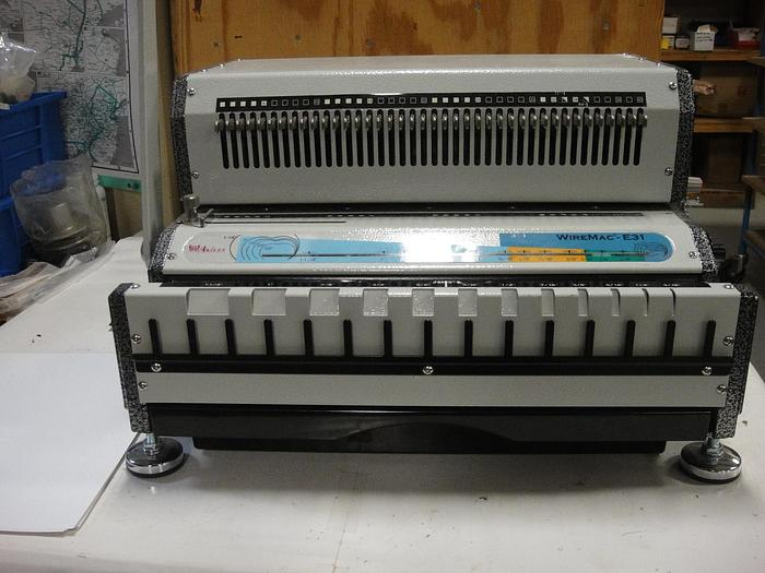 Used Akiles WireMac-E Electric Punch & Manual Wire Closer