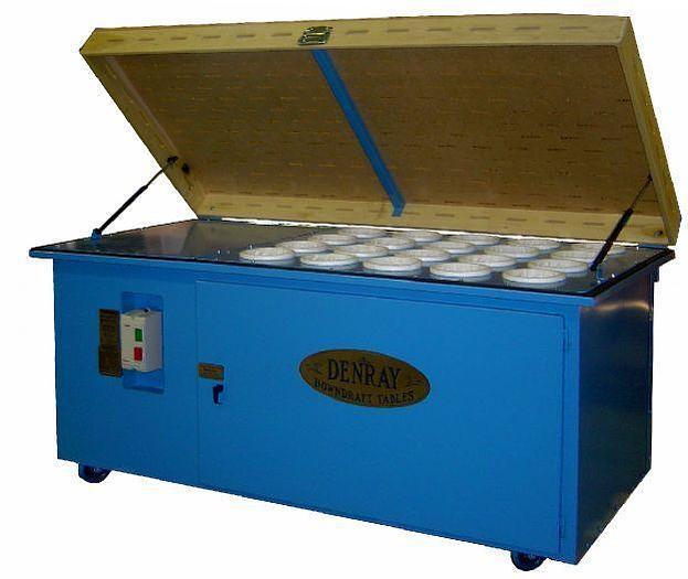 Used Denray 2872 Downdraft Table