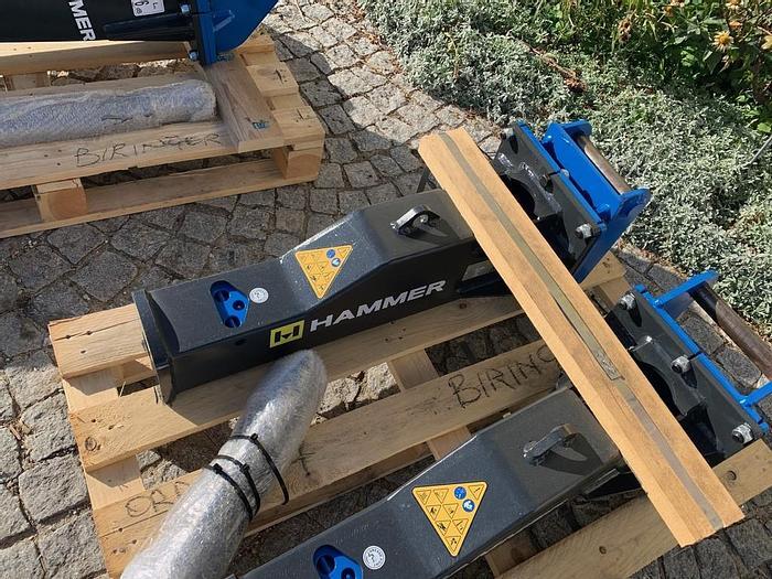 Hammer HM100 Hydraulikhammer mit Lehnhoff MS01 Aufnahme