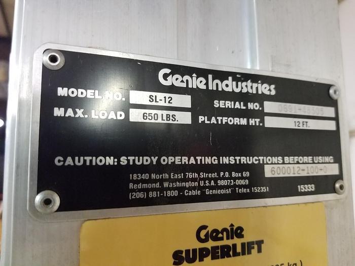 1991 Genie SL-12 SuperLift