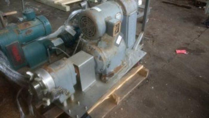 Used Waukesha Sz 25 Positive Displacement Pump SS