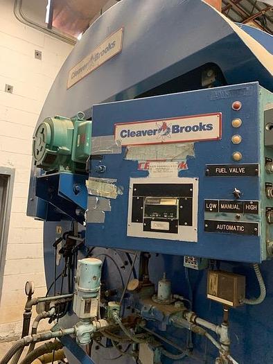 Used 1991 Cleaver Brooks 700 / 800 HP Steam Boiler 150 PSI Natural gas/ Diesel CB-200-700