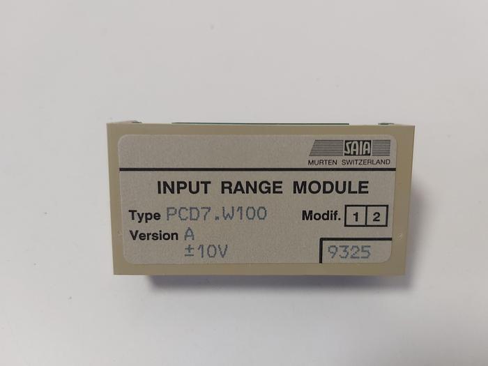 Input range module, PCD7.W100, Saia neu
