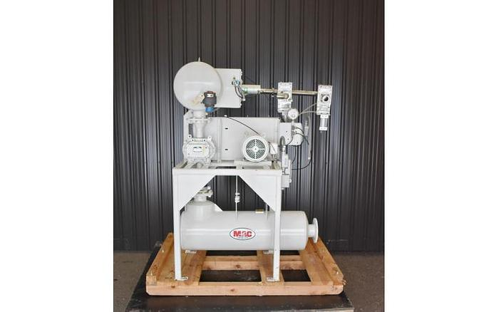 USED ROTARY LOBE BLOWER PACAKGE, 64 CFM, 2'' INLET & OUTLET