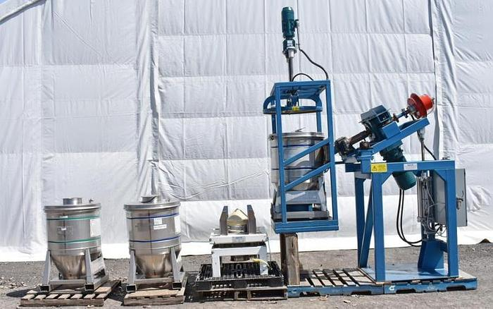 Used USED MATCON TOTE BLENDER PACKAGE WITH 16 IBC TOTES & DISCHARGE STATION