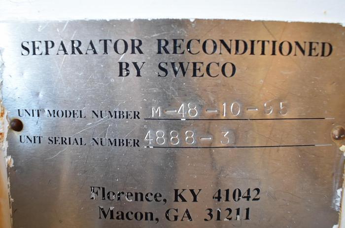 USED SWECO SCREEN, 48'' DIAMETER, STAINLESS STEEL