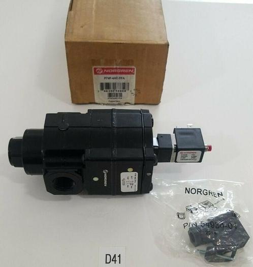 *NEW IN BOX* Norgren P74F-4AC-PFA Soft Start Exhaust Poppet Valve + Warranty!
