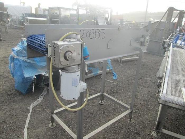 "Used Stainless Steel Conveyor; 18""x5'L"