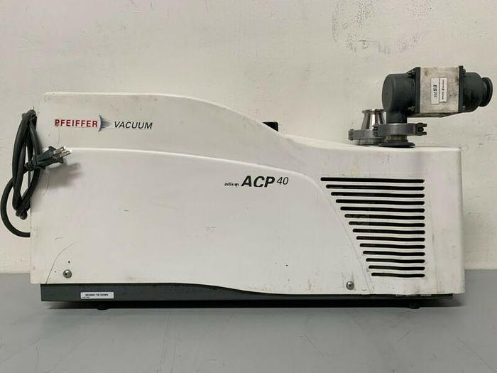 Used Adixen Pfeiffer ACP 40 Dry-Scroll 22 CFM Vacuum Pump Mfg 2019 w/ 225hrs 110-230V