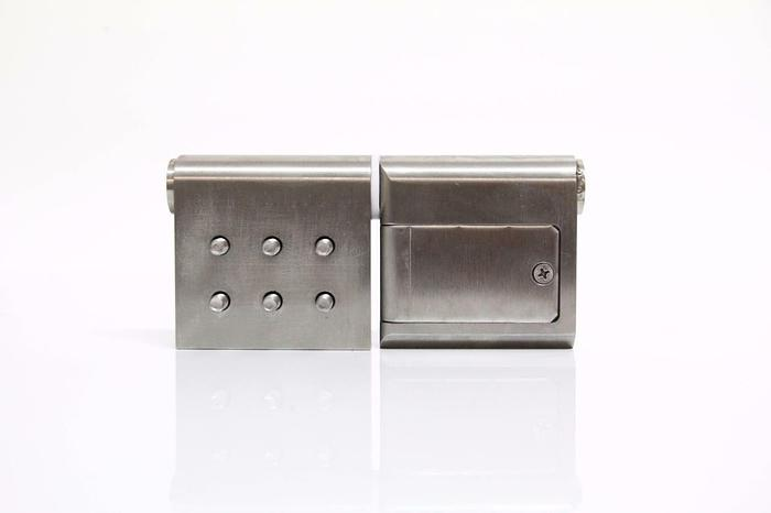 Used Stainless Steel Heavy Duty Industrial Hinges 360 Degree Screw Cover Plate (4351)
