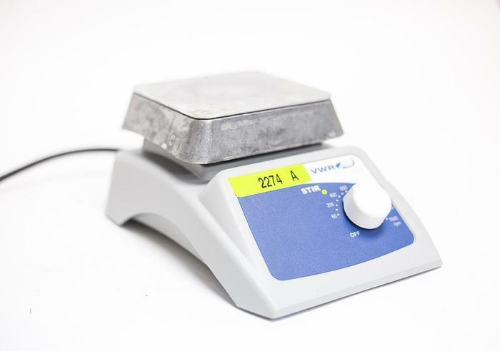 """Used VWR 12365-350 Magnetic Stirrer Aluminum 4"""" x 4"""" Platform (2274A)"""