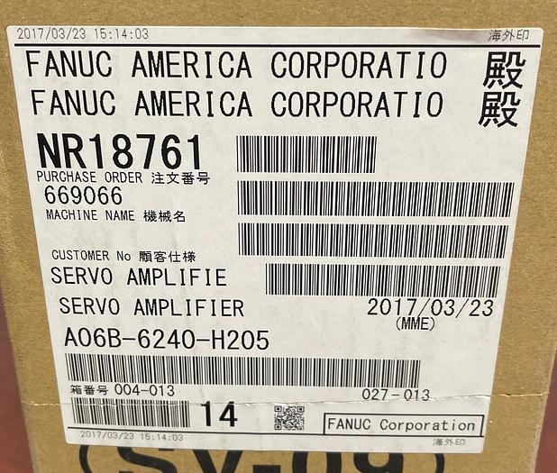 FAUNC A06B-6240-H205 SERVO AMPLIFIER