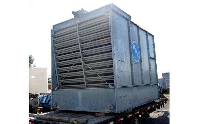 USED COOLING TOWER, B.A.C. COOLING TOWER, 1500 SERIES, 128 TONS, WITH STEEL STAND