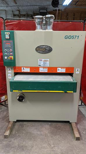 """Used Used Grizzly G0571 - 37"""" 10 HP  1 PH Wide-Belt Sander"""